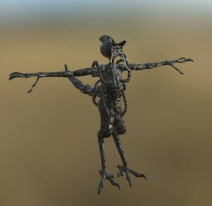 3D alien concept pbr model