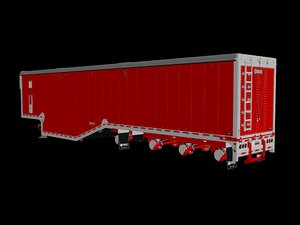 3D trailer wood chip model
