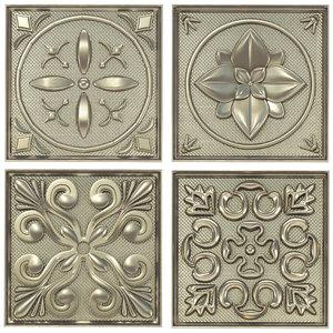 3D set decorative panels model