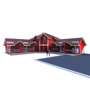 3D shopping center yakor model