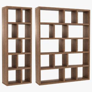 realistic berlin bookcase set 3D model