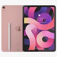 iPad Air 2020 Rose Gold 3D Model
