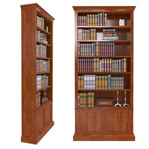 victorian bookcase walnut model