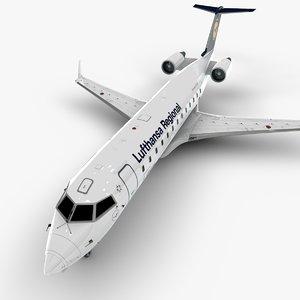 bombardier crj 200 l1000 3D model