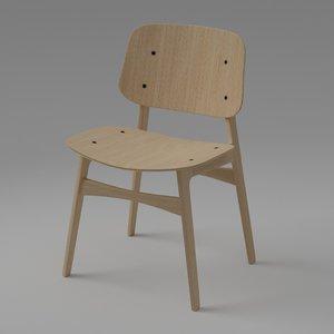 3D sborg wood base chair
