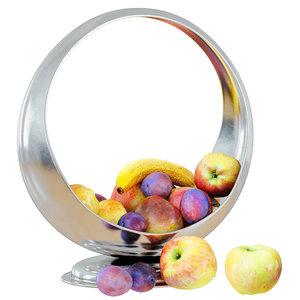 fruit beautiful metal vase 3D model