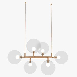 3D constellation ceiling lamp model