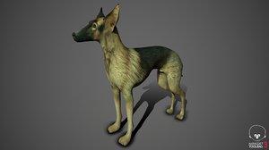 greyhound dog 3D model