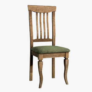 games old dirty chair 3D model
