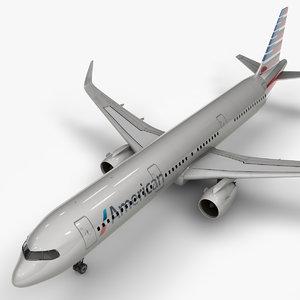 3D a321 neo american airlines