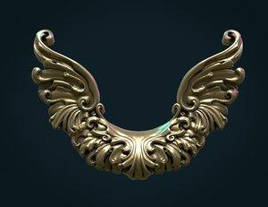 wings printable 3D model