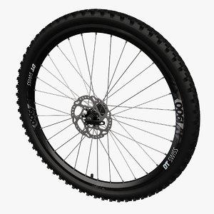 3D mountainbike wheel