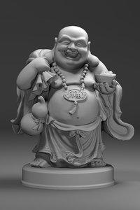 3D budai happy maitreya model