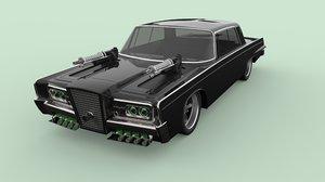 3D green hornet black model
