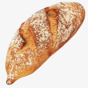 3D wheat roll model