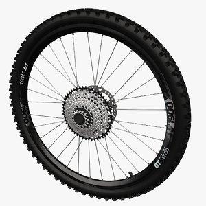 3D model mountainbike wheel