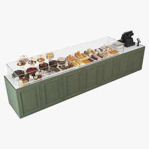bakery case display 3D