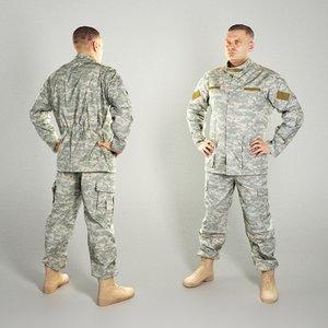 photogrammetry brave soldier american model
