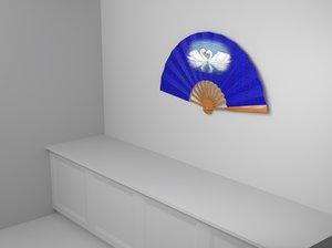 fan hand 3D