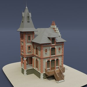 victorian house 03 3D model