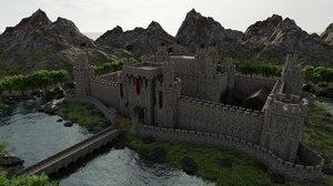 castle scene 3D model