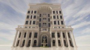 3D model 5 star hotel