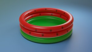 inflatable watermelon 3D model