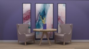 3D scene furniture room
