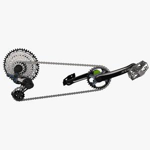 3D crankset chain