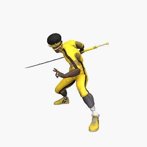 ninja lee 3D model