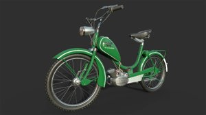wanderers moped motorcycles 3D model