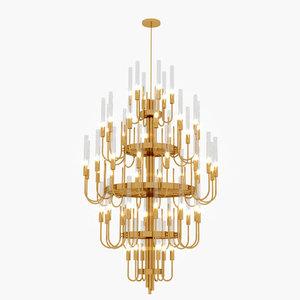 luxxu gala chandelier 3D model