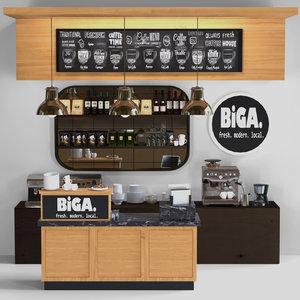 cafes bars 3D