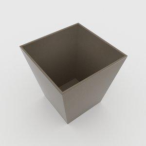 leather bin 3D