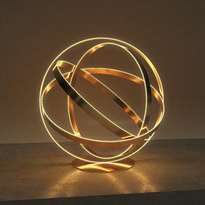 sphericalcreativelamp creative table lamp 3D