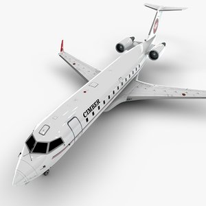 air bombardier crj 200 3D model