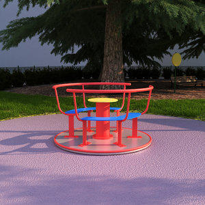 3D playgrounds backyards model