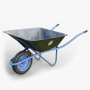 wheelbarrow gameready lods model
