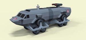 3D model landmaster movie