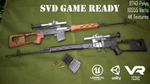 3D dragunov sniper rifle svd