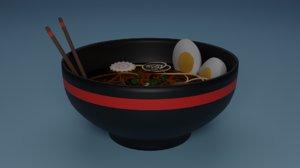 3D bowl ramen model
