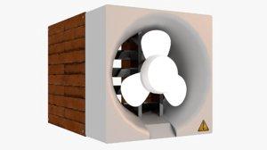 3D suction fan hole