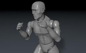 figure rigged artists 3D model