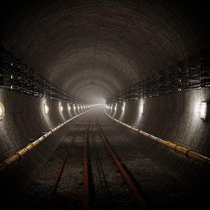 3D subway underground scene