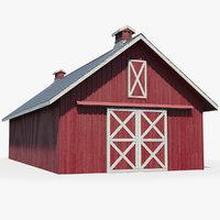Red Wooden Farm Barn