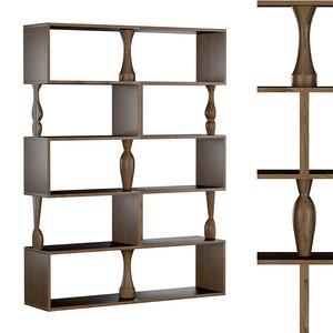 perbacco bookcase 3D model