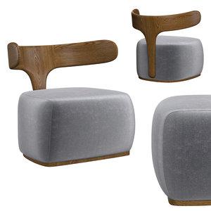 3D armchair morelato italy