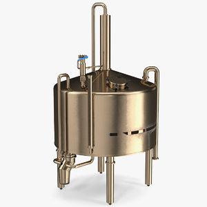 3D distillation cooling tank