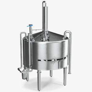 distillation tank 3D model
