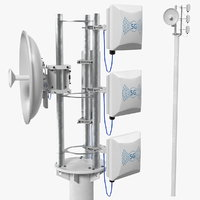 Micro Cell 5G Mobile Network Antenna on Post